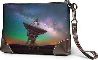 GLGFashion Womens Leather Wristlet Clutch Wallet Radar Telescope Storage Purse With Strap Zipper Pouch