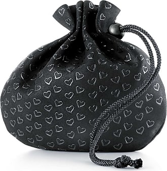 86395768e013 Tiffany   Co. Elsa Peretti pouch in black leather with lacquered Open Hearts