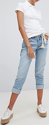 Hollister Boyfriend-Jeans mit niedriger Taille-Grau
