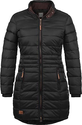 Blend Carlotta Womens Quilted Coat Parka Outdoor Jacket with Funnel Neck, Size:S, Colour:Black (70155)