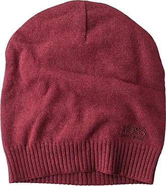c94bf670c9e5a1 HUGO BOSS BOSS Hugo Boss Mens Beanie-Basic, Dark red, One Size