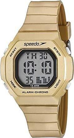 Speedo Relógio Feminino Quadrado Dourado Digital Esportivo Speedo