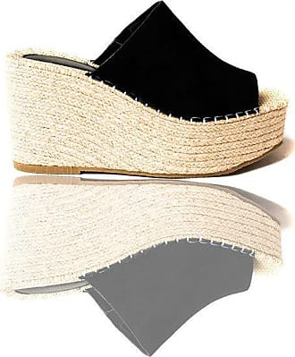 Ikrush Jorga Slip on Wedge Heels Black UK 6