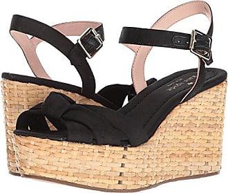 Kate Spade New York Womens Tilly Wedge Sandal, Black Grosgrain, 9 Medium US