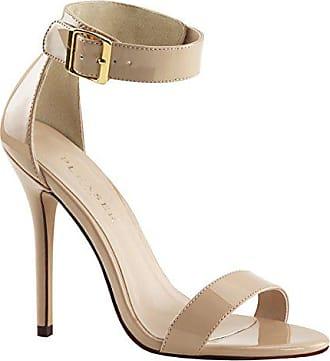 3733d3b760651e Higher-Heels PleaserUSA Riemchen Sandaletten Amuse-10 Lack Creme Gr.40