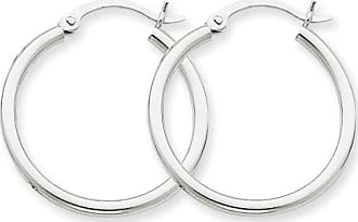 Quality Gold 14kt White Gold 2mm Round Hoop Earrings