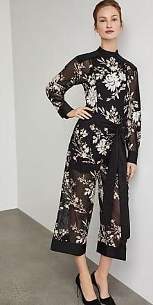 BCBGeneration Embroidered Floral Sequin Jumpsuit