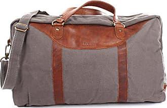6b57cec464632a Leconi kleiner Weekender Canvas + Leder Used-Look Reisetasche Handgepäck  Reise Fitnesstasche Sporttasche Damen +