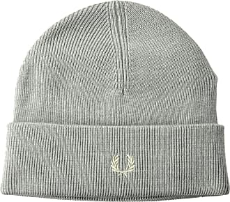 Fred Perry Unisex-Adults Merino Wool Beanie Cold Weather Hat, Steel Marl, One Size