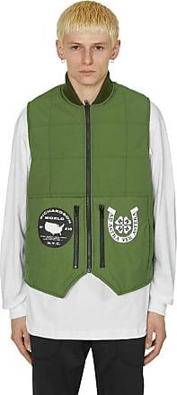 Richardson Richardson Embellished quilted vest OD GREEN M