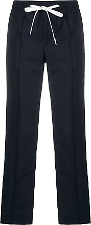 Miu Miu side-stripe drawstring trousers - Blue