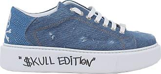 Philipp Plein Fashion Woman SWSC1768PDE004N08 Blue Fabric Sneakers | Spring Summer 20