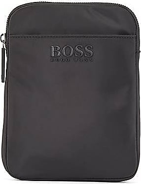 BOSS Logo-strap envelope bag in smooth nylon