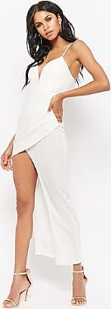 Forever 21 Forever 21 Plunging High-Low Prom Dress White