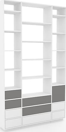 Modernes abgeschrägtes Regal, weiß