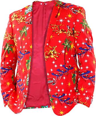 True Face Men Xmas Coat Red 2XL