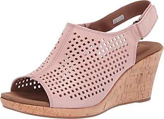 Rockport Womens Briah PERF Sling Wedge Sandal, Pink Metallic, 8.5 M US