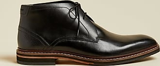Ted Baker Leather Desert Boots in Black CRINT, Mens Accessories