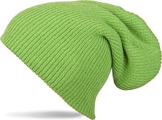 styleBREAKER Beanie, Slouch, Long Knitted hat, Double Knitted 04024004, Color:Green