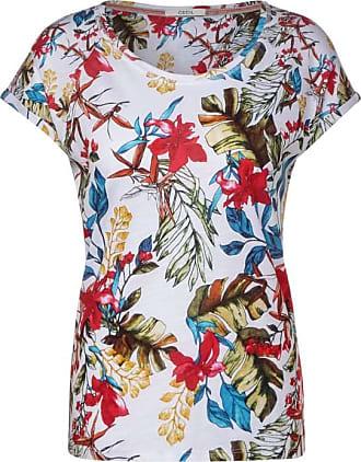 Cecil T-Shirt mit Blumenmuster - White