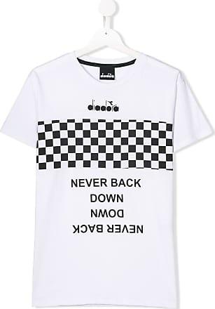 3cabeabd91f Diadora Camiseta com lista quadriculada - Branco