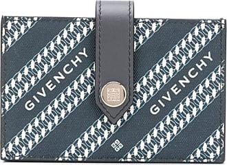 Givenchy logo diagonal stripe cardholder - Azul