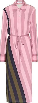 J.W.Anderson Striped stretch-jersey polo dress