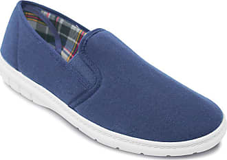 Chums Mens Wide Fit Slip On Canvas Shoes Navy 10 UK