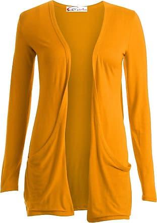Crazy Girls Ladies Long Sleeve Plain Printed Pocket Boyfriend Cardigan Womens Top Sizes 8-26
