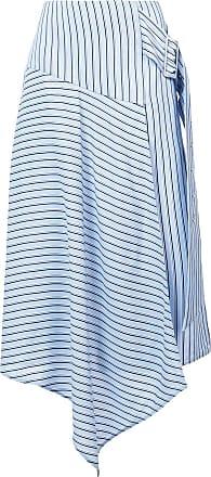 Tibi striped asymmetric skirt - Blue