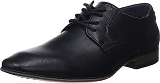 Tom Tailor Mens 485100630 Derbys, Black (Black 00001), 10.5 UK