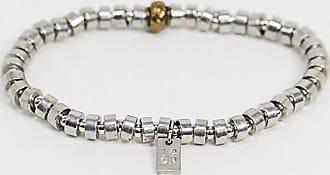 Icon Brand Braccialetto con perline in metallo argento