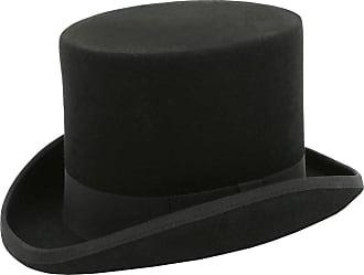 Dobell Mens Black Top Hat 100% Wool Formal Wedding Races-XL (61cm - 7 1/2)