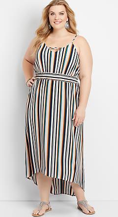 07f71d41758 Maurices Plus Size - Strappy Neck Stripe Maxi Dress