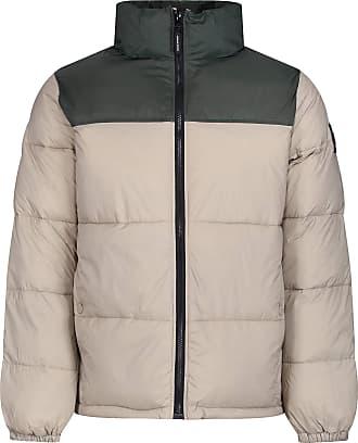 Weekend Offender Rodriguez Puffer Jacket | Stone/Olive Large