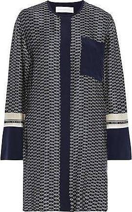 Victoria Beckham Victoria, Victoria Beckham Woman Printed Silk-satin Mini Dress Midnight Blue Size 4