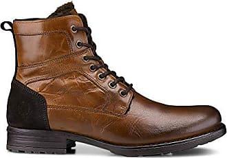 Cox Herren Herren Winter-Boots aus Leder, Schnür-Stiefel in Braun mit  weichem 2e5475258f