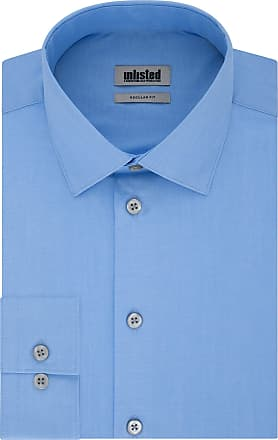 Unlisted by Kenneth Cole Mens Dress Shirt Regular Fit Solid, Light Blue, 17-17.5 Neck 36-37 Sleeve (X-Large)