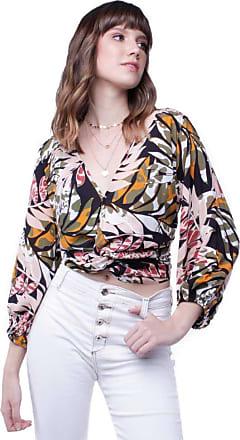 Pop Me Blusa Estampada Decote Transpassado Pop Me-preto-g