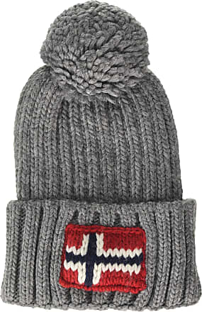Napapijri Mens Semiury 2 Beanie, Grey (Medium Grey Mel 160), One (Size: OS)
