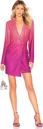 X by NBD Baddie Tux Dress in Fuchsia