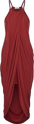 Joie Joie Woman Serlina Split-front Draped Stretch-jersey Midi Dress Crimson Size XXS