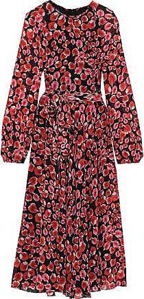 Giambattista Valli Giambattista Valli Woman Belted Floral-print Silk-chiffon Midi Dress Black Size 46