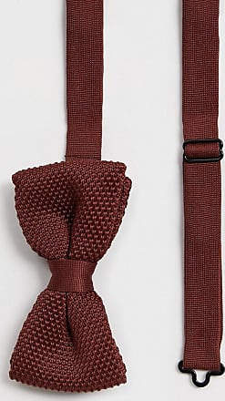 Twisted Tailor knitted bow tie in brown