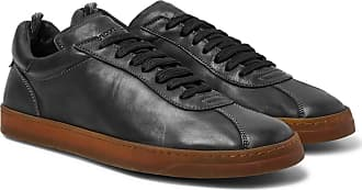 Officine Creative Karma Washed-leather Sneakers - Black