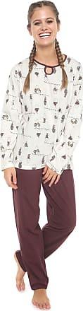 Pzama Pijama Pzama Estampado Off-white/Marrom