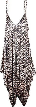 Top Fashion18 Ladies Printed Baggy Cami Strappy Lagen Look Harem Animal Print Playsuit Jumpsuit Dress Top Size 8-26