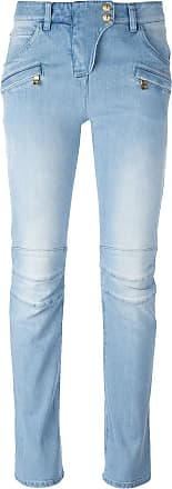 Balmain slim fit biker jeans - Blue