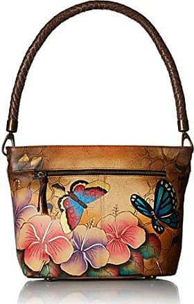 Womens Genuine Shoulder Bags Leather Zip Hand Painted Original Artwork Small New