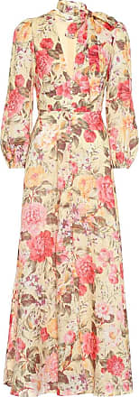 Zimmermann Honour Plunge floral linen dress